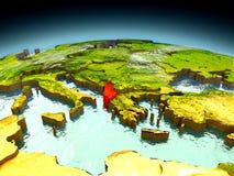 Albania na modelu ziemia Obraz Royalty Free