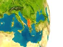 Albania na planecie Zdjęcia Stock