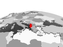 Albania na popielatej kuli ziemskiej ilustracji