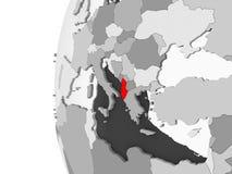 Albania na popielatej kuli ziemskiej royalty ilustracja