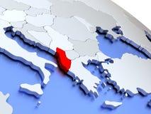 Albania na światowej mapie Zdjęcie Royalty Free