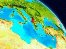 Albania na ziemi royalty ilustracja