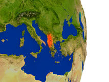 Albania na ziemi Obraz Stock