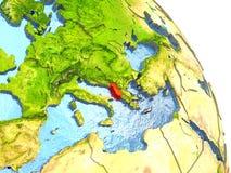 Albania na ziemi w czerwieni Fotografia Stock