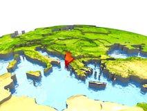Albania na ziemi w czerwieni Fotografia Royalty Free