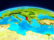Albania od orbity royalty ilustracja