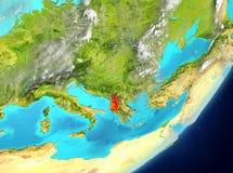 Albania od przestrzeni ilustracji