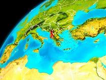 Albania od przestrzeni ilustracja wektor