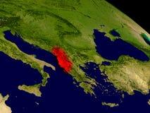 Albania od przestrzeni Zdjęcia Stock