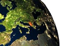 Albania od przestrzeni Obraz Royalty Free