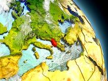 Albania od przestrzeni Zdjęcia Royalty Free