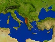 Albania od przestrzeni w czerwieni Obrazy Royalty Free