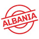 Albania pieczątka Zdjęcie Stock