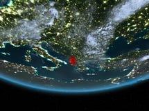 Albania przy nocą ilustracji