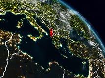 Albania przy nocą ilustracja wektor