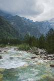 Albania river. River in albania proklietje mountains Teth royalty free stock photography