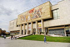 Albania's National History Museum in Tirana Royalty Free Stock Images