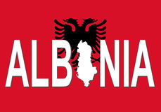 Albania text with map Stock Images