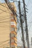 Albania, Tirana, Entangled Telecom Wires royalty free stock photos