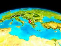 Albania w czerwieni ilustracja wektor