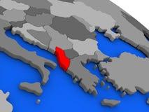 Albania w czerwieni Obraz Stock