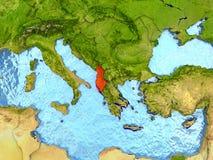 Albania w czerwieni Fotografia Royalty Free