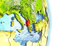 Albania w czerwieni na ziemi Obraz Stock