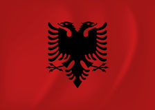 Albania waving flag. Vector image of the Albania waving flag Stock Photography