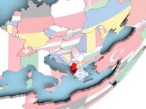 Albania z flaga ilustracja wektor