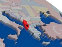 Albania z flaga Obraz Royalty Free