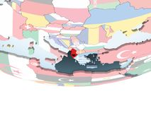 Albania z flaga na kuli ziemskiej royalty ilustracja