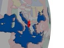 Albania z swój flaga Zdjęcie Stock