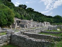 The Albanian Archaeological city of Butrint Royalty Free Stock Photo