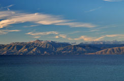 Albanian coast. Beautiful albaninan coastline with mountains Stock Photo