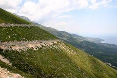Albanian coastal road Royalty Free Stock Photography