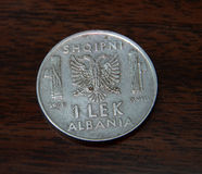 Albanian coin from 1939 Stock Image