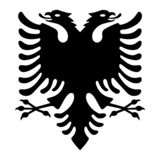 Albanian eagle with two heads royalty free illustration