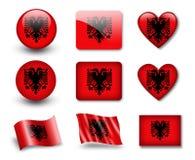 The Albanian flag Royalty Free Stock Photos