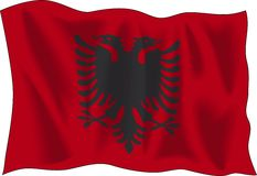 Albanian flag Royalty Free Stock Photography