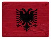 albanian flagę Zdjęcie Royalty Free