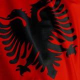 Albanian Flag Closeup Royalty Free Stock Photo