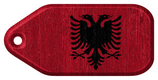 Albanian flag Stock Photos