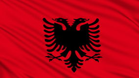 Albanian flag. Royalty Free Stock Photo