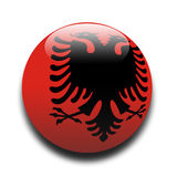 albanian flagga Royaltyfri Illustrationer
