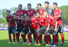 Albanian football team Stock Photo