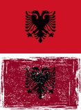 Albanian grunge flag. Vector Royalty Free Stock Photo