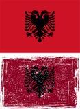 Albanian grunge flag. Vector Royalty Free Stock Photo