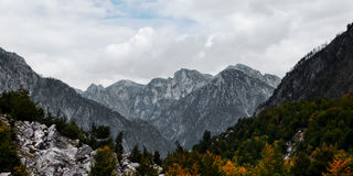 Albanian high mountain range North alps Tropoja Valbona valley Royalty Free Stock Photography