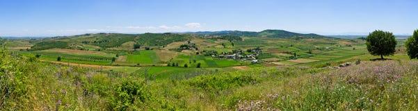 Albanian landscape in the hills. Albanian panoramic landscape in the hills royalty free stock photography