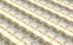Albanian lek bills stacks background. Stock Image